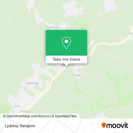 Ljubina map