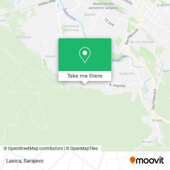 Lasica map