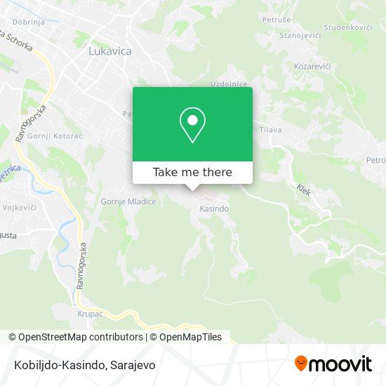 Kobiljdo-Kasindo map
