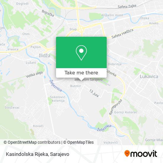 Kasindolska Rijeka map