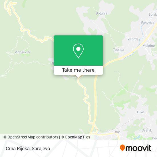 Crna Rijeka map