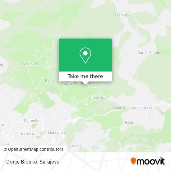 Donje Biosko map