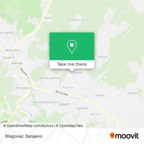 Blagovac map