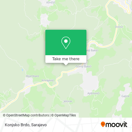 Konjsko Brdo map