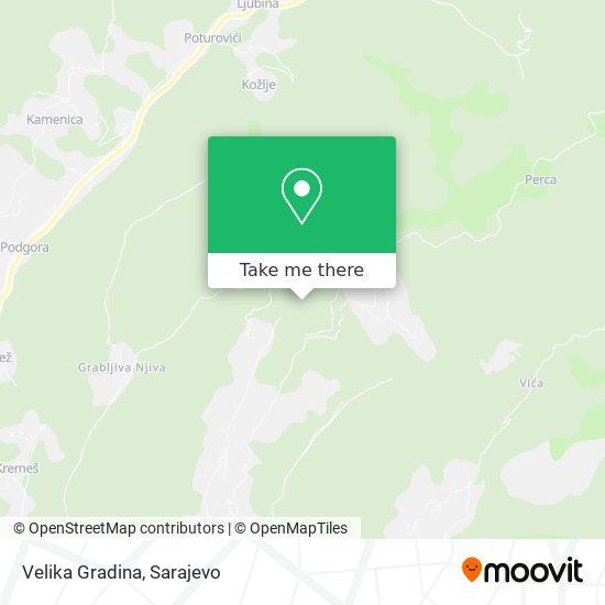 Velika Gradina map