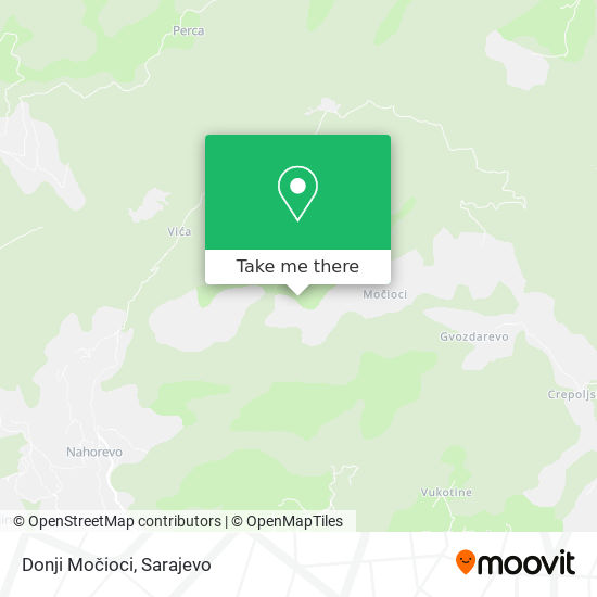 Donji Močioci map