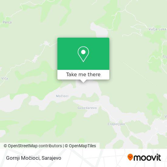 Gornji Močioci map