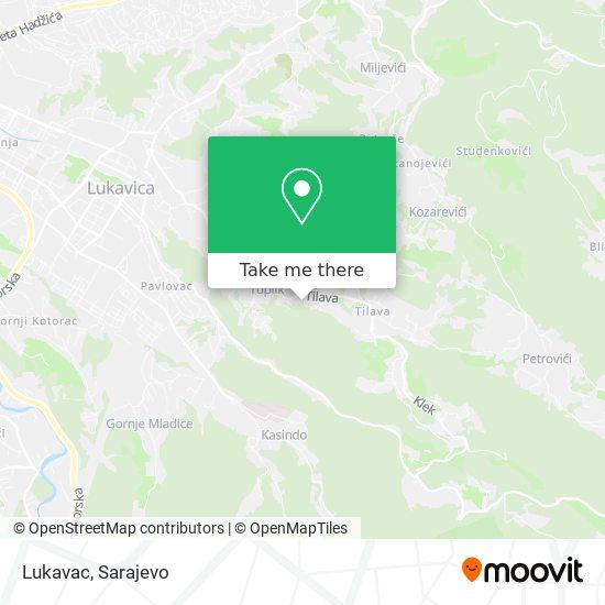 Lukavac map