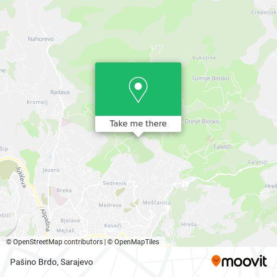 Pašino Brdo map