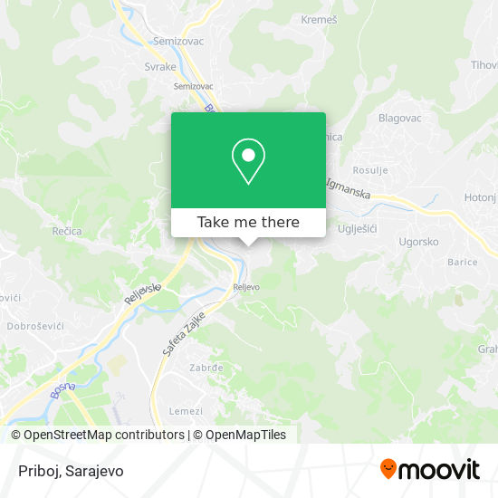 Priboj map