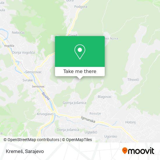 Kremeš map
