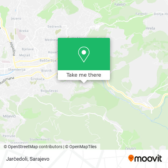 Jarčedoli map