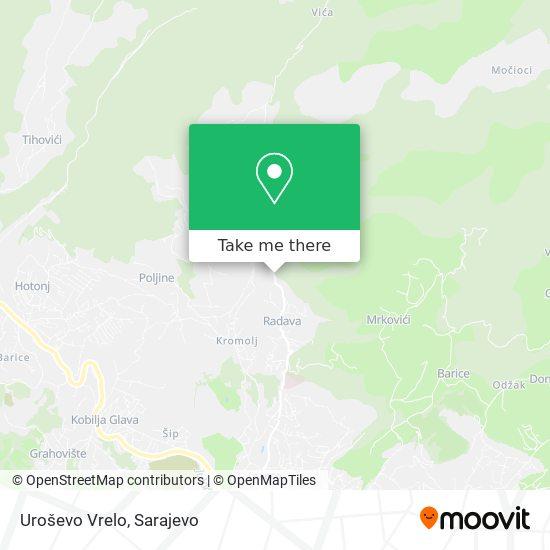 Uroševo Vrelo map