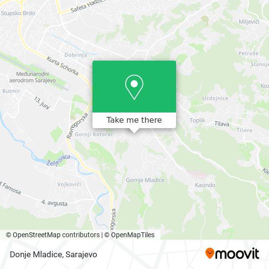 Donje Mladice map