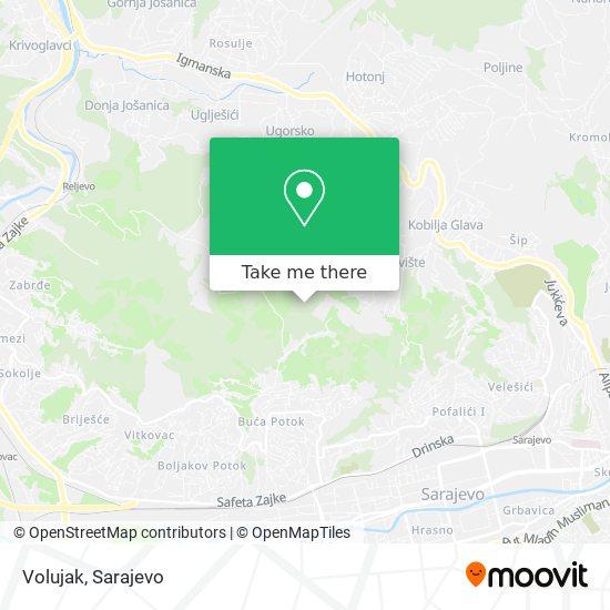 Volujak map