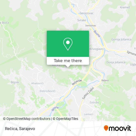 Rečica map