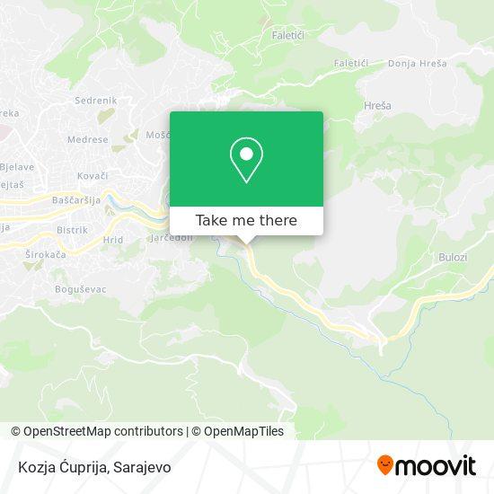 Kozja Ćuprija map