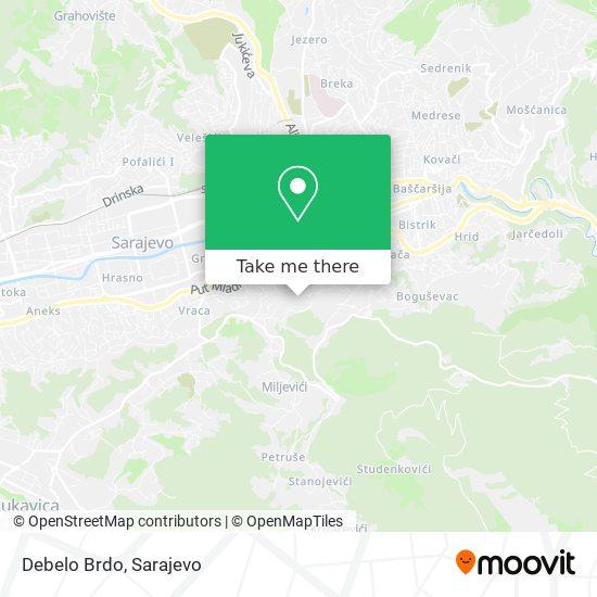 Debelo Brdo map