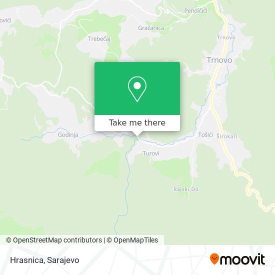 Hrasnica map