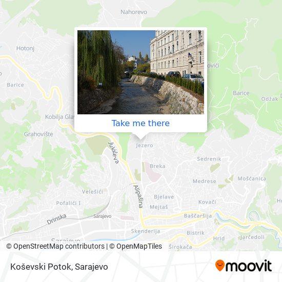 Koševski Potok map