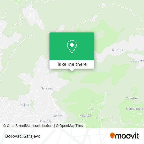 Borovac map