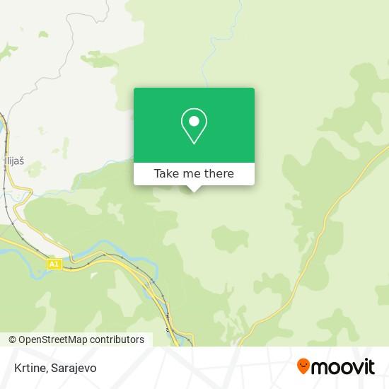 Krtine map