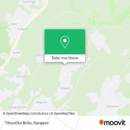 Tihovićko Brdo map