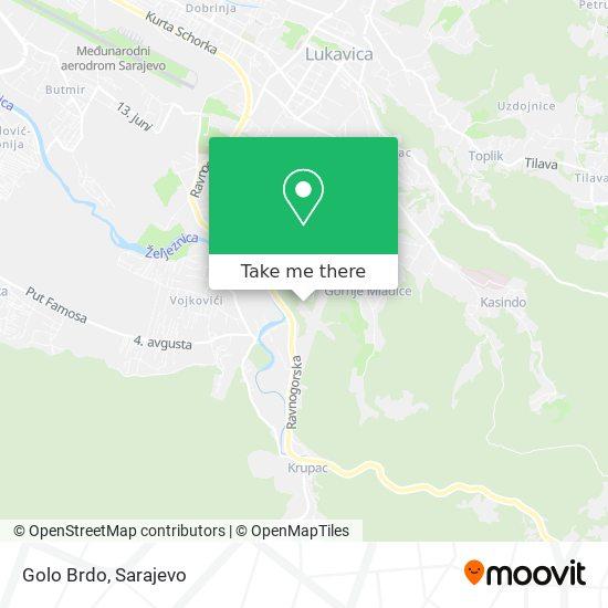 Golo Brdo map