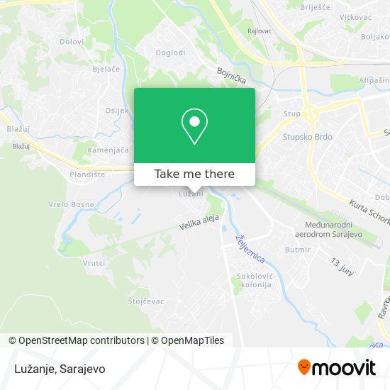 Lužanje map