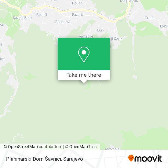 Planinarski Dom Šavnici map