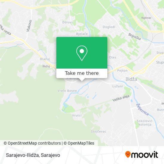 Sarajevo-Ilidža map