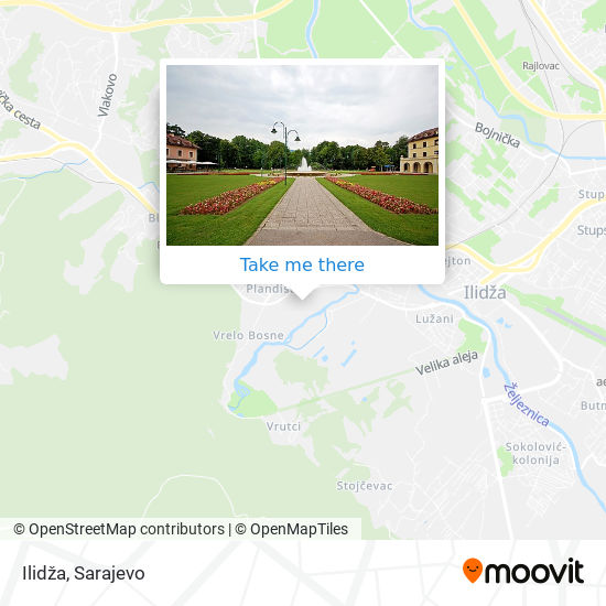 Ilidža map