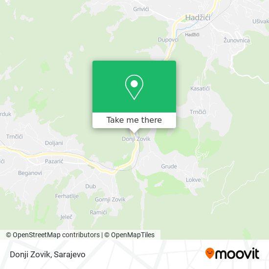 Donji Zovik map