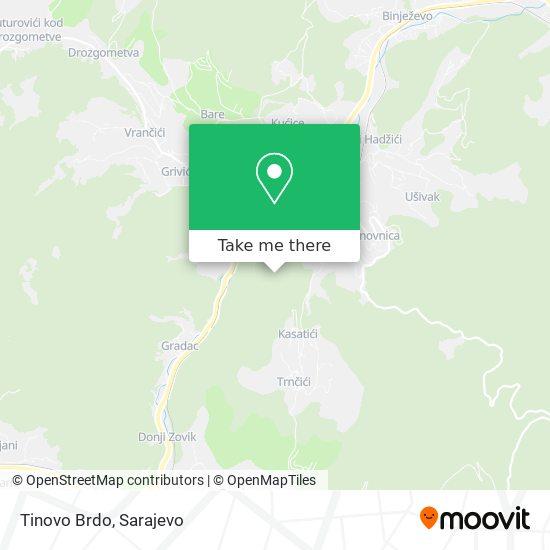 Tinovo Brdo map