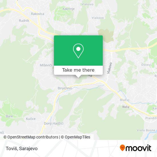 Toviš map