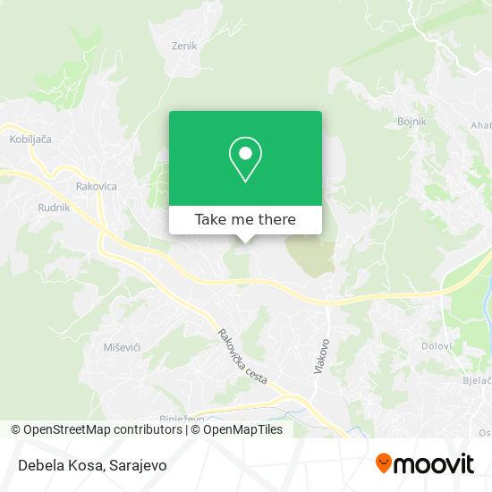 Debela Kosa map