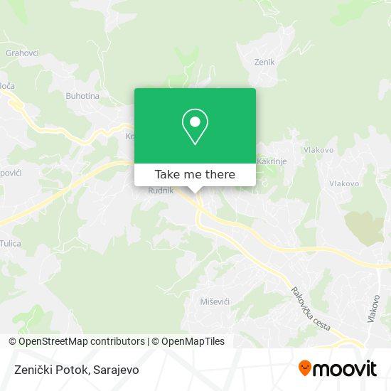 Zenički Potok map