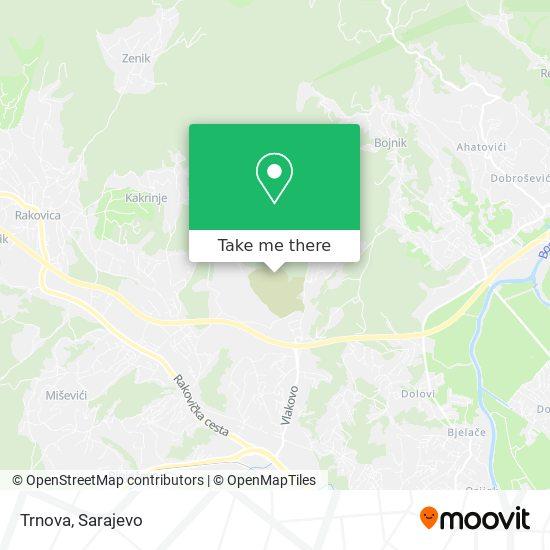 Trnova map