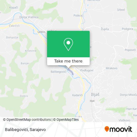 Balibegovići map