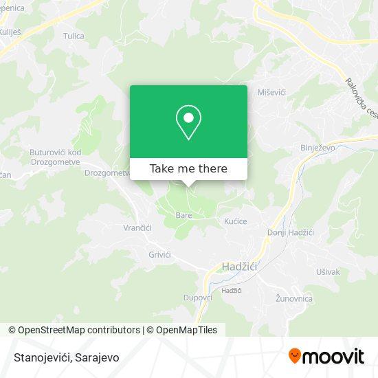 Stanojevići map