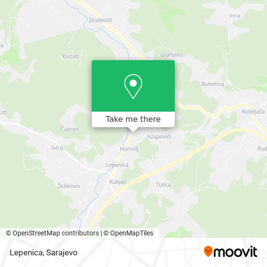 Lepenica map