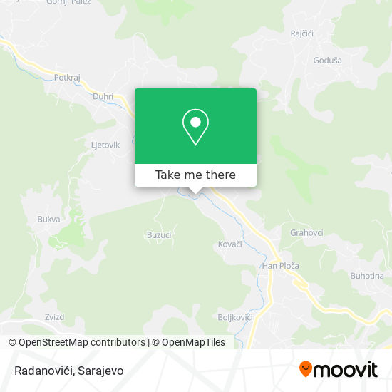 Radanovići map