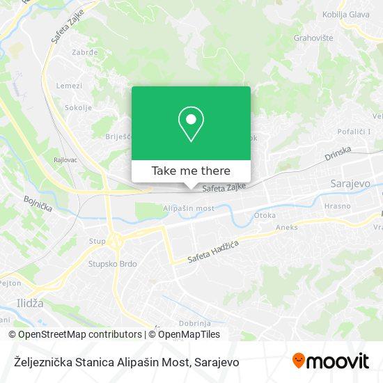 Željeznička Stanica Alipašin Most map