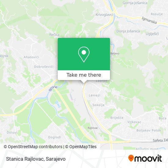 Stanica Rajlovac map