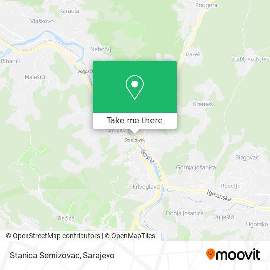 Stanica Semizovac map