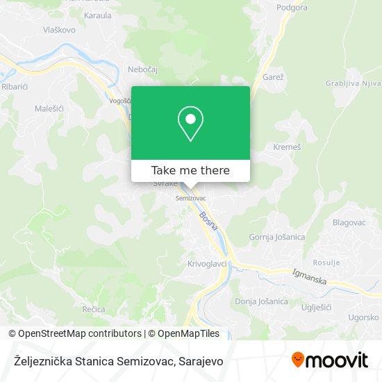 Željeznička Stanica Semizovac map