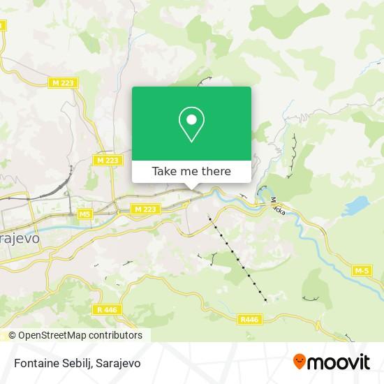Fontaine Sebilj map