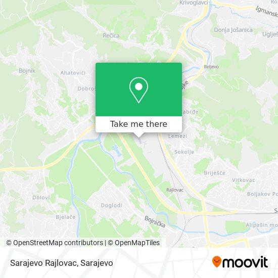 Sarajevo Rajlovac map