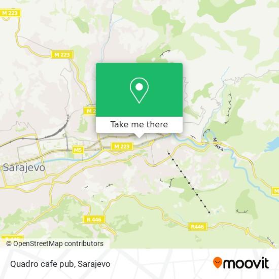 Quadro cafe pub map