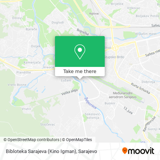 Bibloteka Sarajeva (Kino Igman) map